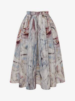 William Blake Dante Print Midi Skirt