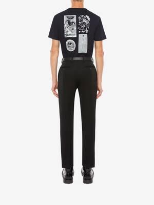 스컬 콜라주 티셔츠