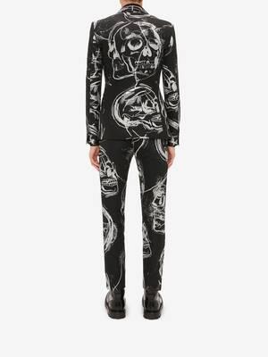 Painted Skull Jacquard Jacket