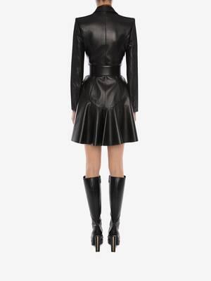 Bi-Colour Leather Coat
