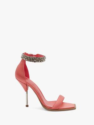 Embroidered Double Strap Sandal