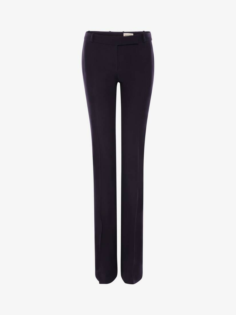 Display a large version of the product image 1 - Leaf Crepe Bootcut Trouser