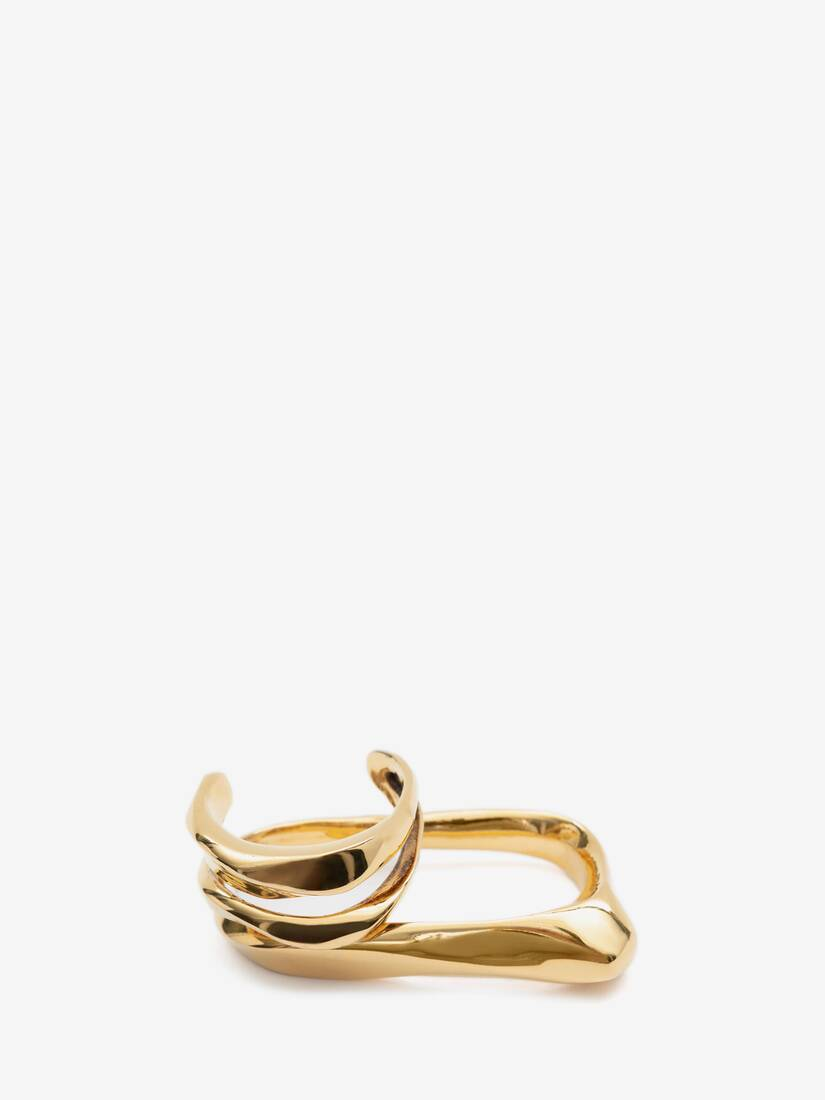 Display a large version of the product image 3 - Sculptural Double Ring