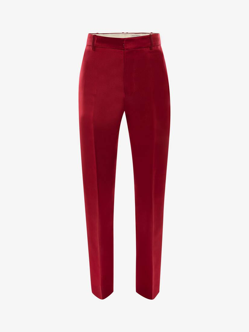 Display a large version of the product image 1 - Satin Duchesse Cigarette Trousers