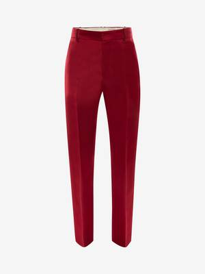 Satin Duchesse Cigarette Trousers