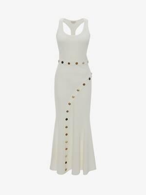 Button Ottoman Knit Dress