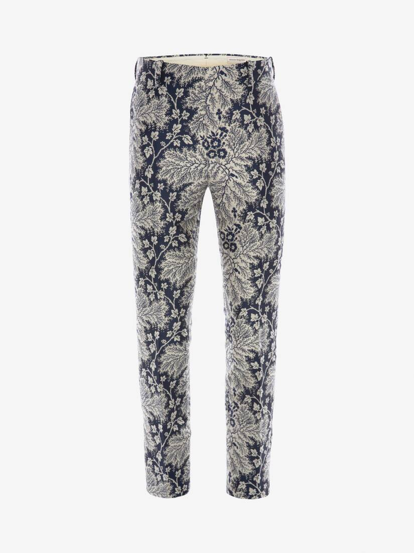 Display a large version of the product image 1 - Ivy Creeper Jacquard Trousers