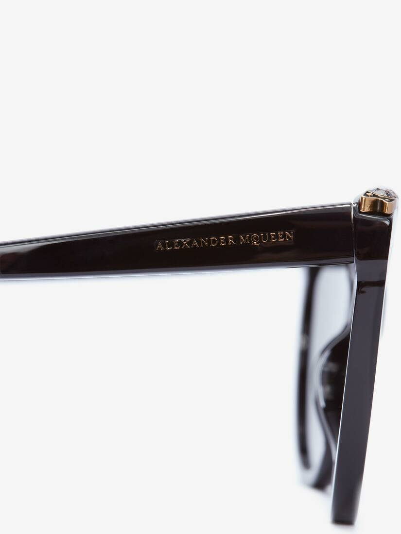 Schmuckverzierte Cateye-Sonnenbrille
