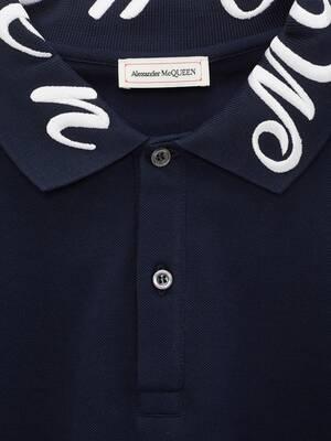 McQueen Embroidery Polo Shirt