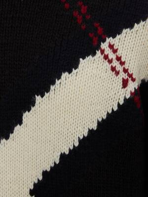 Exploded Argyle Flag Intarsia Jumper