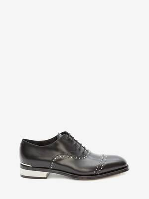 Metal Heel Oxford Lace-Up