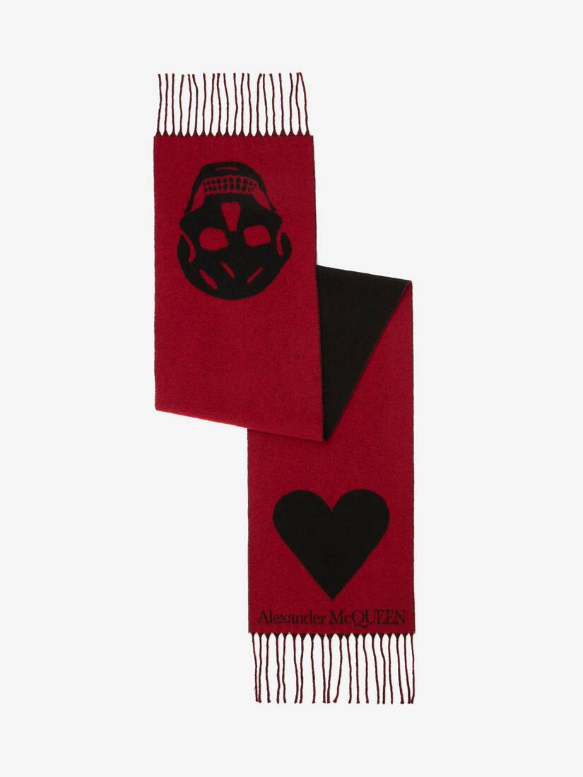 Display a large version of the product image 2 - Skull and Heart Scarf