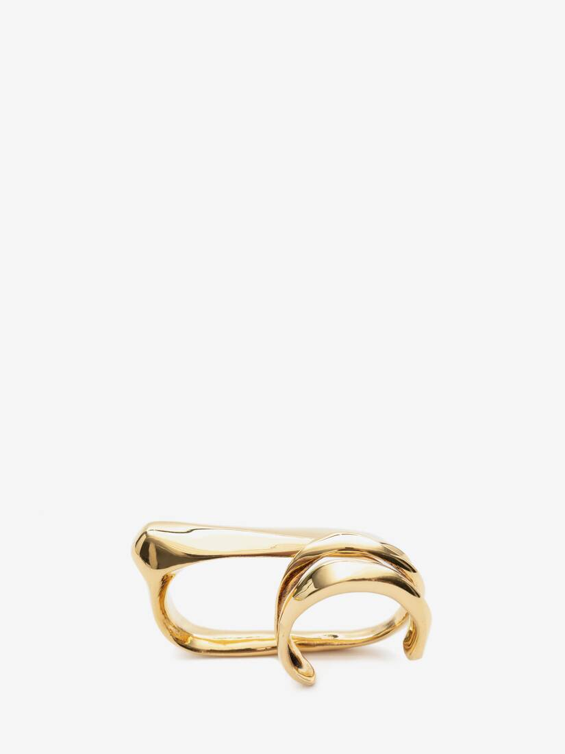 Display a large version of the product image 1 - Sculptural Double Ring