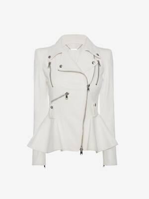페플럼 바이커 재킷