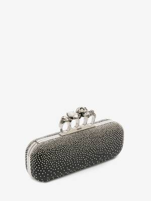 Studded Four Ring Clutch
