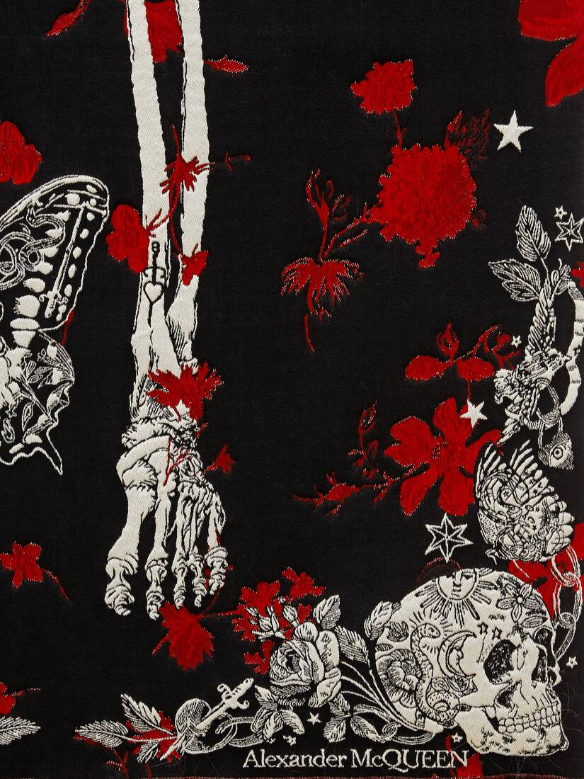 Display a large version of the product image 4 - Tattoo Skeleton Scarf