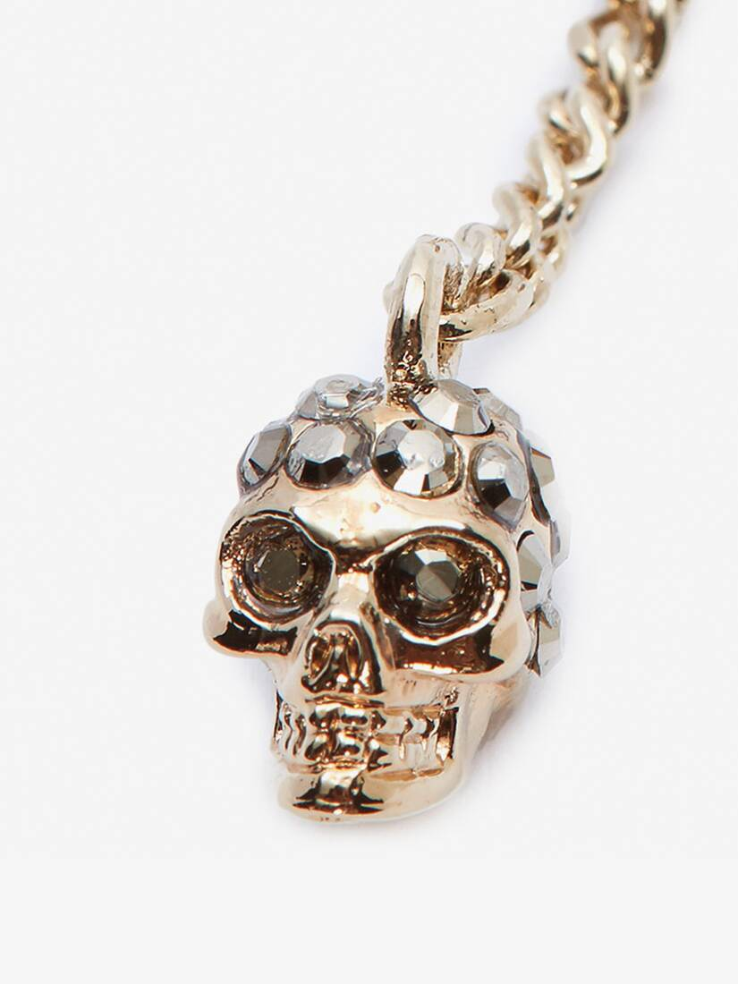 Display a large version of the product image 3 - Double-Wrap Chain Skull Necklace