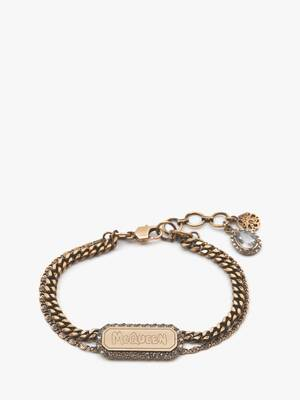 McQueen Graffiti Pave Bracelet