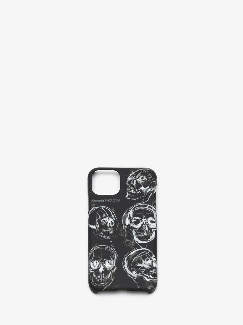Display a large version of the product image 1 - Painted Skull iPhone 11 Pro Case