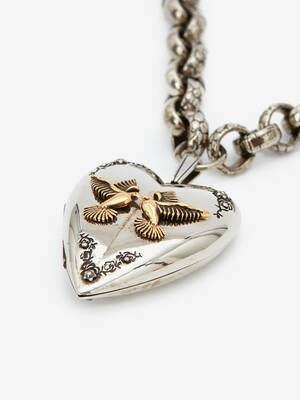 Heart Locket Charm Necklace