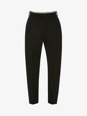 Wool Gabardine Pleated Trousers