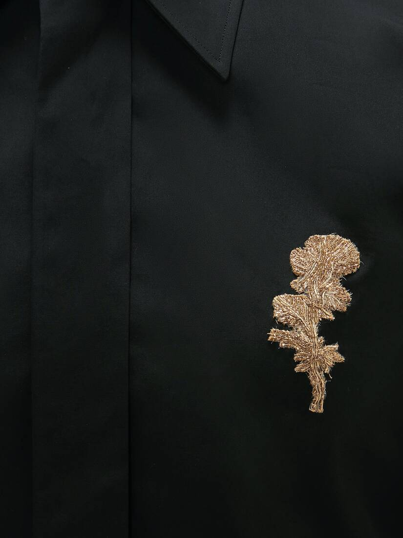Gold Thistle Embroidered Shirt