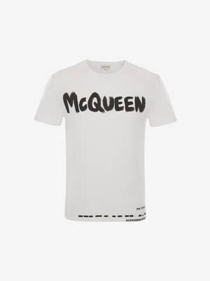 McQueen 그래피티 티셔츠