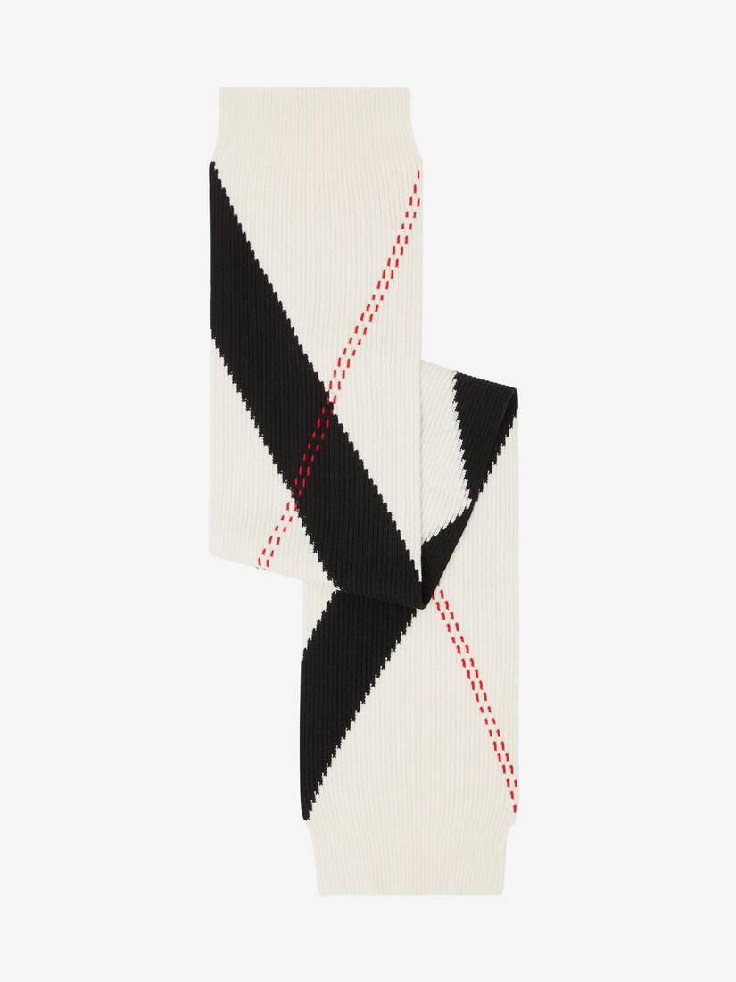 Écharpe tricotée motif Argyle