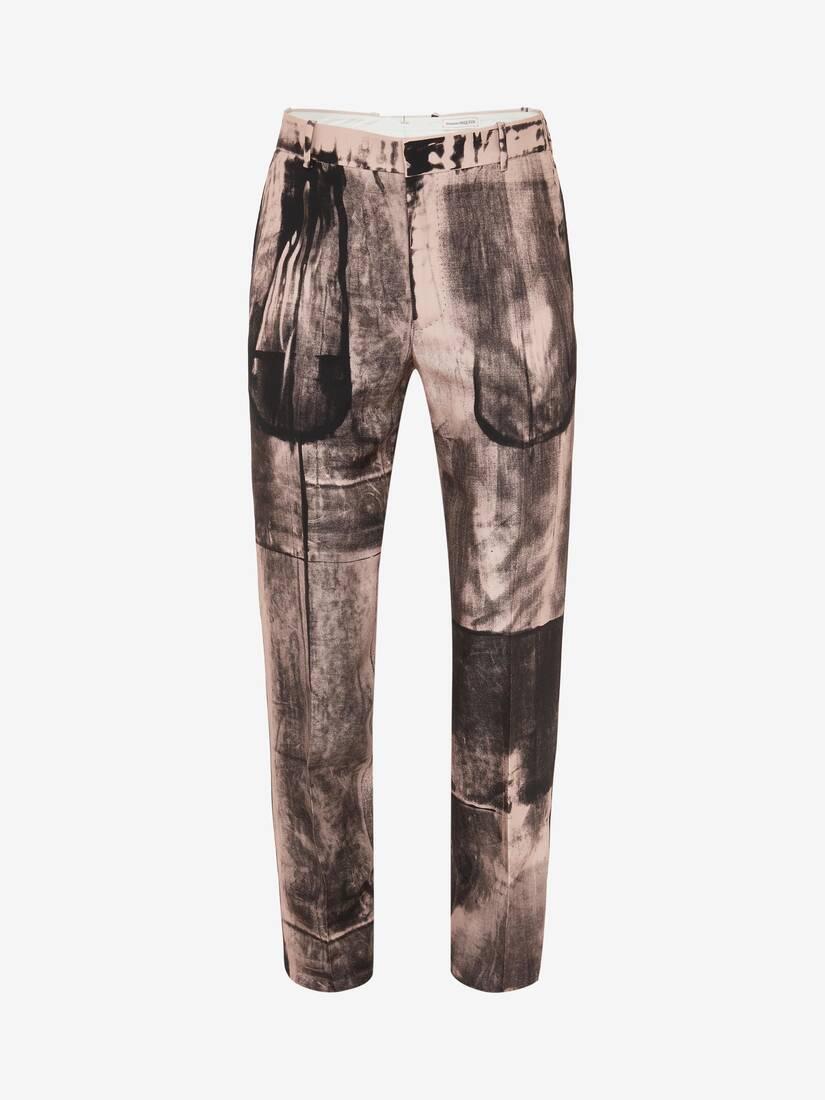Pantalon cigarette imprimé Rayons X