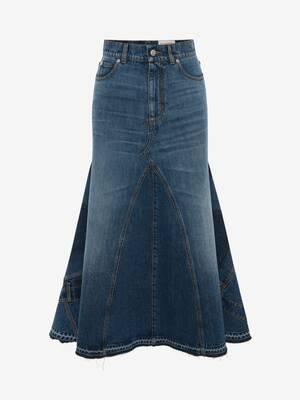 フルーテッド パネルスカート