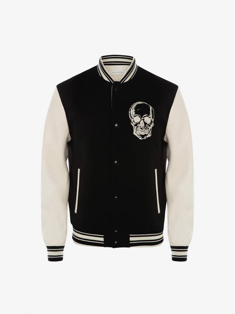 Display a large version of the product image 1 - Embroidered Skull Bomber Jacket