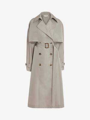 Oversize Kimono Sleeve Trench Coat