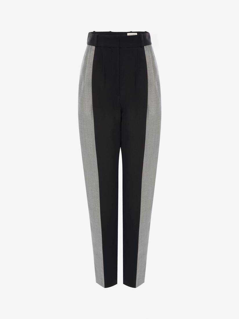 Light Wool Silk Paneled Pant
