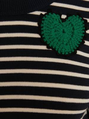 Crochet Patches Knit Mini Dress