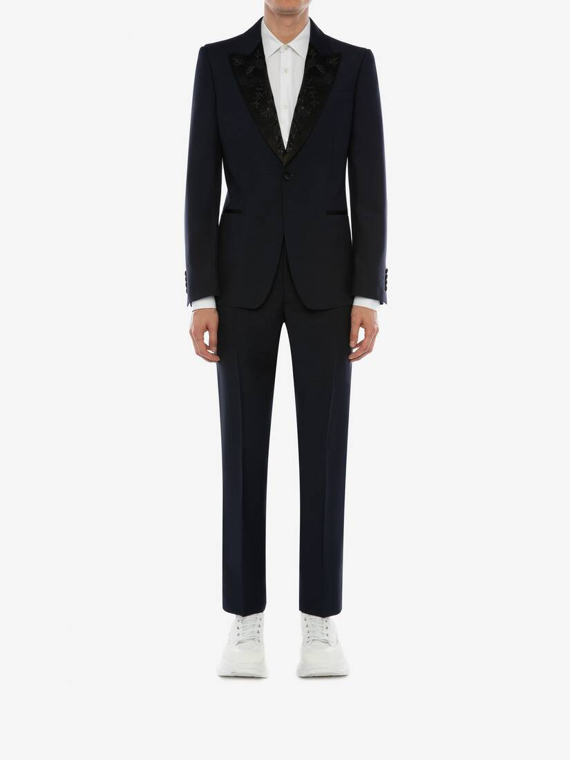 Display a large version of the product image 2 - Wool Mohair Tuxedo Pants