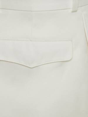 Short baggy ajusté en gabardine de coton