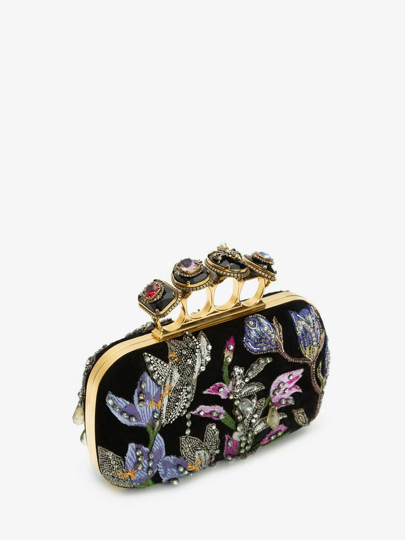 Display a large version of the product image 2 - Spider Jewelled Four-Ring Box Clutch