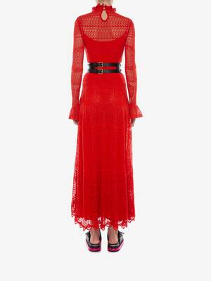 Engineered Lace Knitted Dress