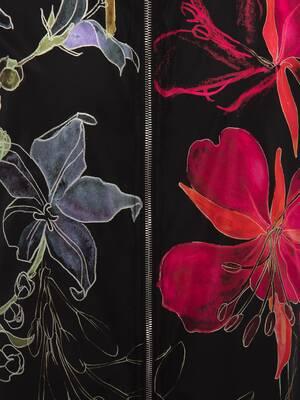 Deconstructed Floral Windbreaker