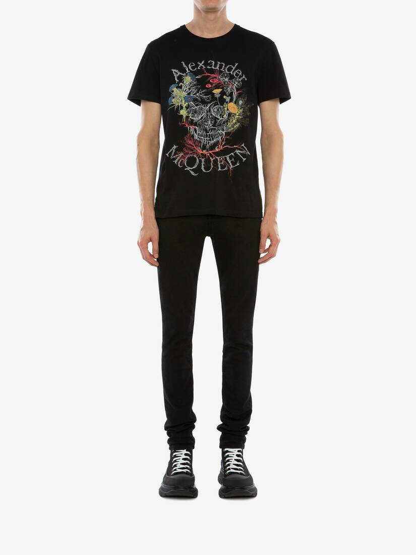 Afficher une grande image du produit 2 - T-shirt Glowing Botanical Skull