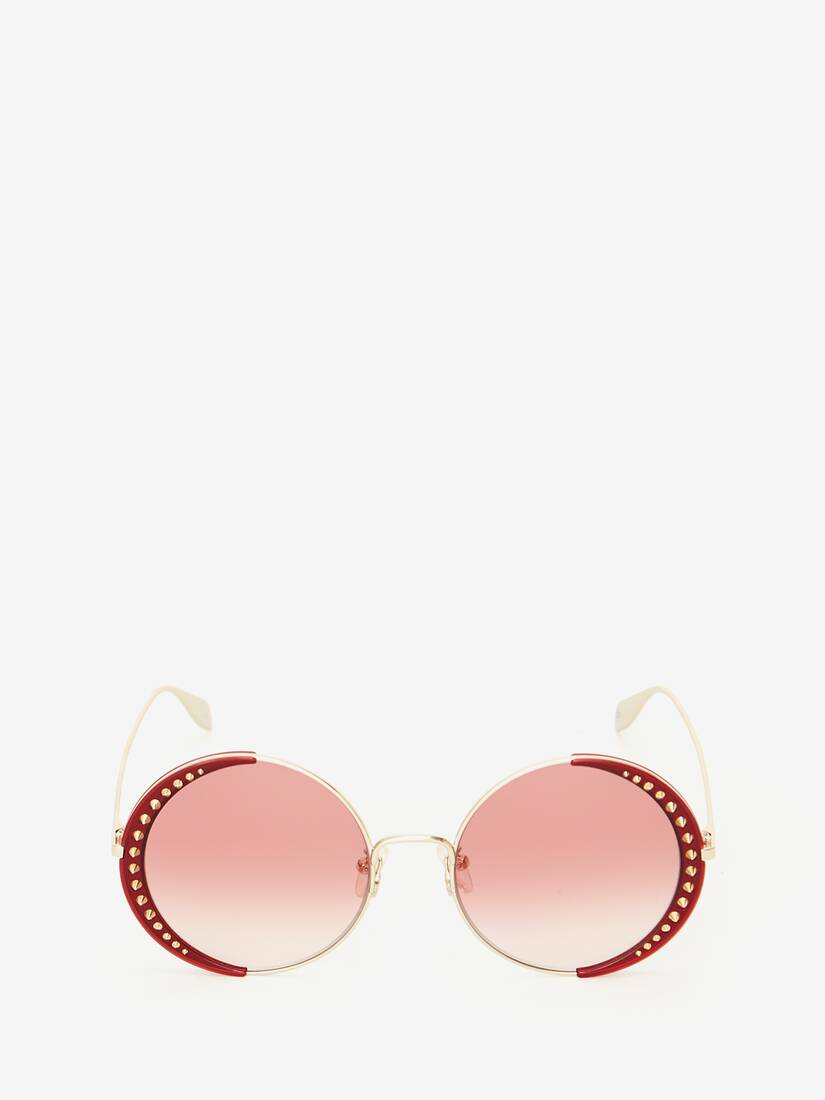 Studded Lens Round Sunglasses