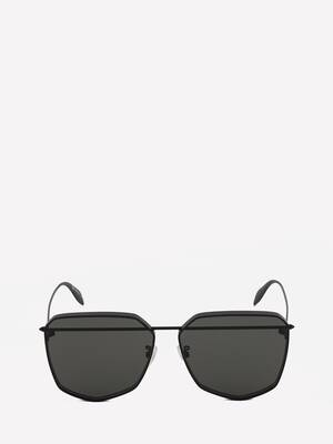Piercing Shield Metal Sunglasses