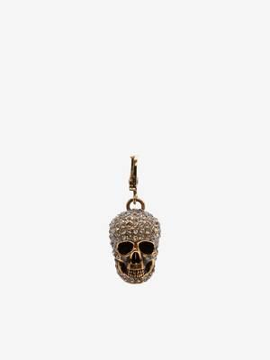 Large  Pave Skull Charm