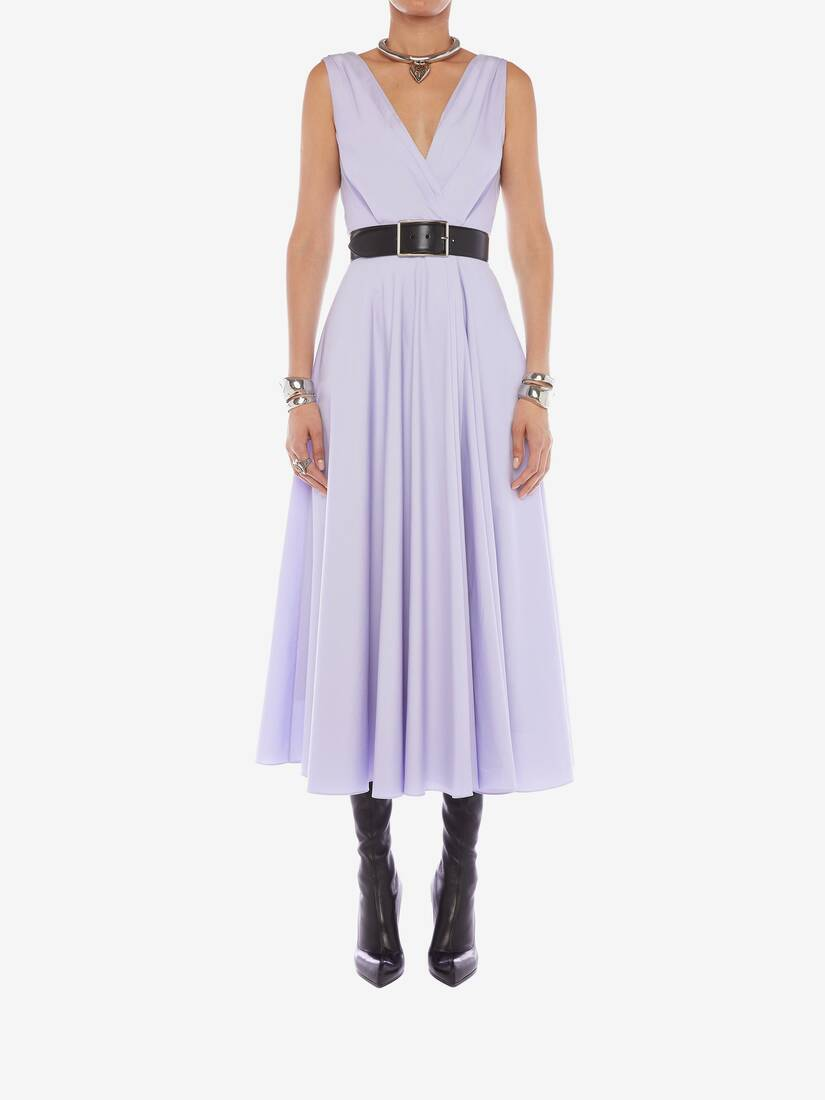 Display a large version of the product image 2 - Cotton Poplin Drape Midi Dress