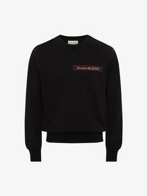 Selvedge Logo Tape Detail Sweatshirt