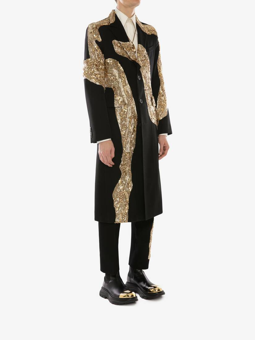 Display a large version of the product image 3 - Molten Metal Embroidered Coat