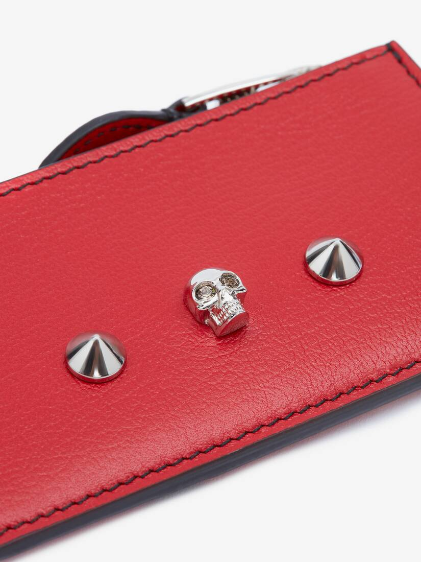 Display a large version of the product image 5 - Skull and Stud Zip Card Holder