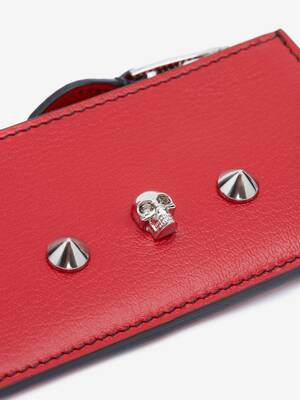 Skull and Stud Zip Card Holder
