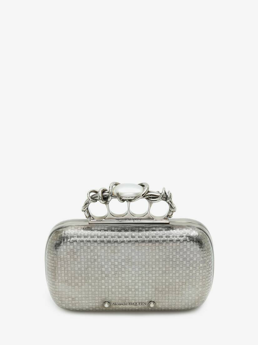 Display a large version of the product image 1 - Woven Four-Ring Box Clutch