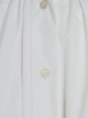 Cotton Poplin Trapeze Mini Dress